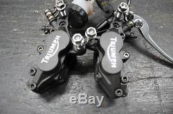 02-06 Triumph Daytona 955i Front Brake Caliper Set Pair Calipers W. Lever Oem