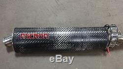 1998 Triumph Daytona T595 955i T 595 S394. Micron carbon fiber exhaust complete