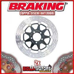 2-STX29 COPPIA DISCHI FRENO ANTERIORE DX + SX BRAKING TRIUMPH DAYTONA T955i 955c