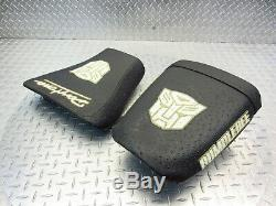 2002 02-06 Triumph Daytona 955i OEM Seats Saddles Rider Passenger Cushions Pads