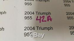 2004 Triumph 955I 955 I Daytona cdi ecu