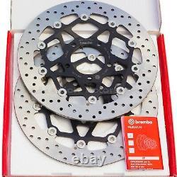 2x Brembo Serie ORO 320mm Front Brake Discs Triumph Daytona T955I 78. B408.73