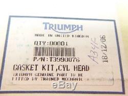 97-06 Triumph Daytona 955i Cylinder Head & Valves Gasket Kit T3990076