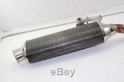 97 98 99 00 01 Triumph Daytona T595 Carbon Fiber Exhaust Pipe Muffler W Midpipe