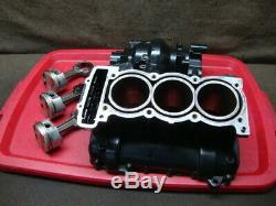 97 TRIUMPH DAYTONA 955 955i T595 ENGINE CASE, UPPER, CYLINDERS, PISTONS #WH61