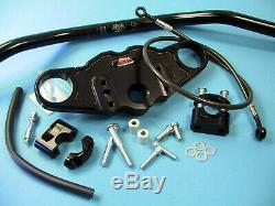 ABM Superbike Lenker Umbau-Kit TRIUMPH Daytona 955i // 99-01 Typ T595 // schwarz