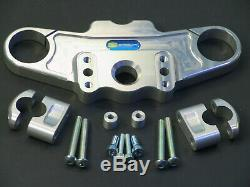 ABM Superbike Lenker Umbau-Kit TRIUMPH Daytona 955i // 99-01 Typ T595 // silber