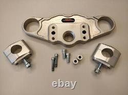 Abm Superbike Booster Handlebar Kit Triumph Daytona 955i (595N) 02-03 Silver