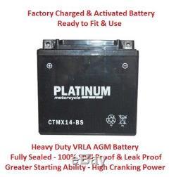 CTMX14-BS (YTX14-BS) AGM Gel Battery TRIUMPH Daytona 955i Sprint ST RS 99-04