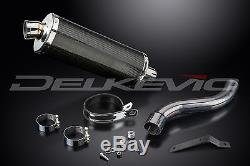 Carbon Fibre Stubby Oval 350mm Silencer Exhaust Daytona 955i Hi-Level 01-02