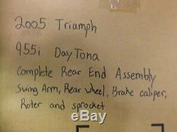 Complete Rear End Assembly for 2005 Triumph 955i Daytona