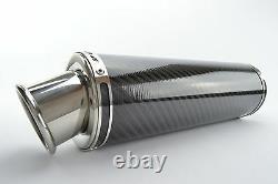 Daytona 955i 02-07 SP Engineering Carbon Fibre Round Big Bore XLS Exhaust