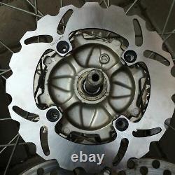 Front Rear Brake Discs Disks Triumph T595 T955i Daytona T509 T955 Speed Triple