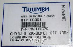 Kit chaîne d'origine TRIUMPH SPEED TRIPLE 855 955 DAYTONA T595 955i SPRINT RS