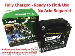 LUCAS YTX14-BS TRIUMPH Daytona 955i, Sprint ST RS 99-04 AGM/Gel Upgrade Battery