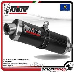 MIVV OVAL exhaust slip-on carbon high up TRIUMPH DAYTONA 955I 19972001