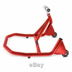 Rear Paddock Stand single sided for Triumph Daytona 955i 00-06 V5 red