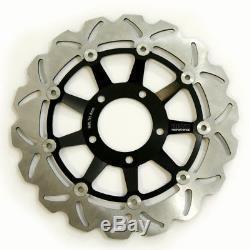 Rezo Wavy Stainless Front Brake Disc Pair For Triumph Daytona 955i 01-06