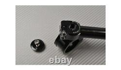 Silber 360° neigbare Stummellenker 45 mm TRIUMPH DAYTONA 955I T595 1997-2001