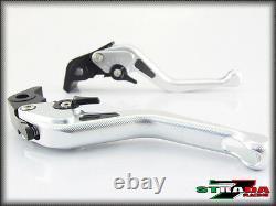 Strada 7 CNC Short Carbon Fiber Levers Triumph DAYTONA 955i 1997 2003 Silver