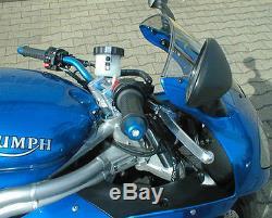 Superbike Lenker Umbau-Kit KOMPLETT Triumph Daytona 955i Bj. 2002-2003 595N