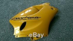 TRIUMPH 955 955i T595 Daytona Right Side Fairing in Yellow NOS never used