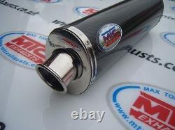 TRIUMPH 955i DAYTONA 01-06 Carbon Oval Single outlet ROAD LEGAL/RACE exhaust