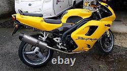 TRIUMPH DAYTONA 955I 01-06 Titanium Tri-oval carbon outlet ROAD LEGAL exhaust