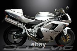 TRIUMPH DAYTONA 955i 01-02 HILEV 350mm ROUND STAINLESS BSAU SILENCER EXHAUST KIT