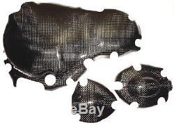 TRIUMPH DAYTONA + SPRINT 955i T595 T695 3x CARBON KUPPLUNGSDECKEL MOTORDECKEL