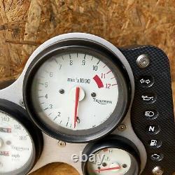 TRIUMPH DAYTONA T595 (955i) OEM UK SPEC SPEEDO CLOCKS TACHO 27K MILES 1997-1998