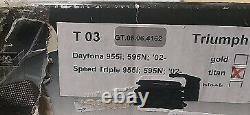 TRIUMPH Daytona / Speed triple 955i 2002 06 rear sets Gilles Tooling titan