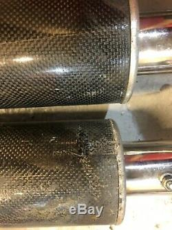 Triumh T595 955i Daytona Under Seat Exhaust Conversion