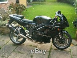 Triumph 955i DAYTONA 01-06 Black round Single outlet ROAD LEGAL/RACE exhaust