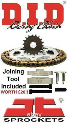 Triumph 955i Daytona (twin side) 01-02 DID & JT Chain And Sprocket Kit + Tool