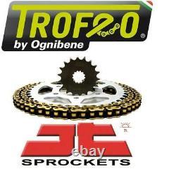 Triumph 955i Daytona (twin side swing) 01-02 Trofeo & JT Chain And Sprocket Kit