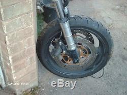 Triumph 955i daytona front end forks wheel brakes yolks master spares or repair