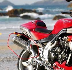 Triumph Carbon Exhaust High Level Silencer Daytona 955i Speed Triple A9600120