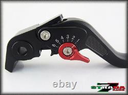 Triumph DAYTONA 955i 1997 2003 Strada 7 Long Carbon Fiber Inlay Levers Black