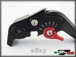 Triumph DAYTONA 955i 2004 2006 Strada 7 Short Carbon Fiber Inlay Levers Black