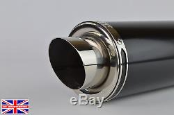 Triumph Daytona 955i 02-07 Demon Satin Black Stubby Moto GP Exhaust + Baffle