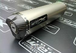 Triumph Daytona 955i 04-06 Titanium Tri Oval, Carbon Outlet Exhaust Can, Silencer