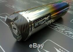 Triumph Daytona 955i 2003 2004 Colour Titanium Tri-Oval, Carbon Outlet Exhaust
