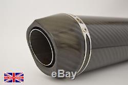 Triumph Daytona 955i 97-01 SP Diabolus Carbon Round XLS Carbon Outlet Exhaust