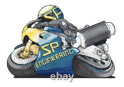 Triumph Daytona 955i Exhaust 1997-2001 SP Engineering Carbon Fibre Stubby GP-R