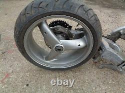Triumph Daytona 955i Frame & V5 With Single Sided Swingarm & Rear Wheel T Reg