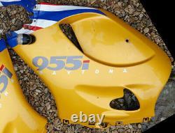 Triumph Daytona 955i T595 fairing panels 1998 2001 Lightning yellow