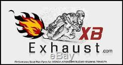 Triumph Daytona 955i exhaust pipe 2002 2006 Extremeblaster XBSS Fixed Baffle