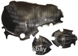 Triumph Daytona + Sprint 955i T595 T695 3x Carbon Clutch Cover Engine Cover
