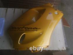 Triumph Daytona T595 955i 1997/1998 Strontium Yellow Right Main Fairing Panel